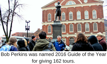 Bob Perkins was named 2016 Guide of the Year for giving 162 tours.