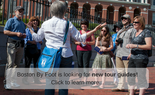 Boston By Foot is looking for new tour guides, click to learn more!