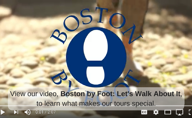 View our video, Boston by Foot: Let's Walk About It, to learn what makes our tours special.