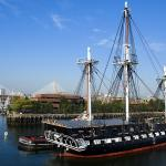 USS Constitution is moored at the Charlestown Navy Yard; Public Domain