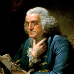 Portrait of Benjamin Franklin (detail) by David Martin; Public Domain