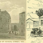 The First Latin School on School Street, 1600s